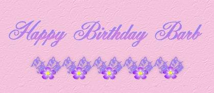 Happy Birthday Barb